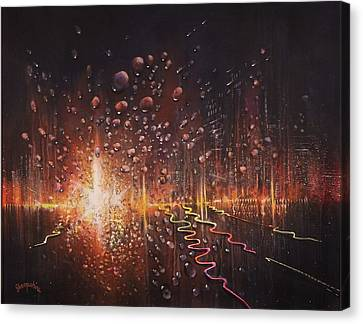 Rain On The Windshield Canvas Print