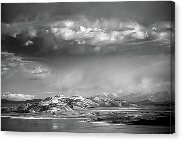Canvas Print featuring the photograph Rain Over Crater Mountain by Alexander Kunz