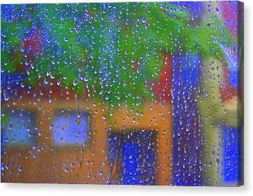 Rain Rain Go Away Canvas Print by Julie Lueders