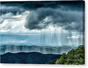 Rain Shower Staunton Parkersburg Turnpike Canvas Print