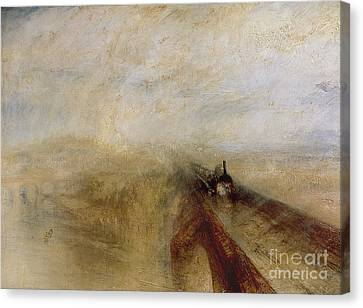 Rain Steam And Speed Canvas Print by Joseph Mallord William Turner