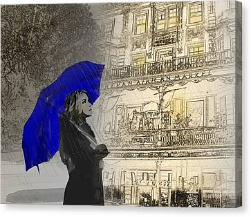 Rain Walk Canvas Print