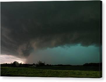 Rain-wrapped Tornado Canvas Print