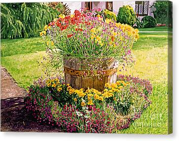 Rainbarrel Garden Canvas Print