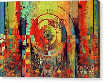 Canvas Print featuring the digital art Rainbolo - 01t01ii by Variance Collections