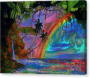 Rainboow Drenched In Layers Canvas Print
