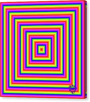 Canvas Print featuring the digital art Rainbow #1 by Barbara Tristan