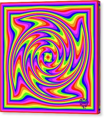 Canvas Print featuring the digital art Rainbow #2 by Barbara Tristan