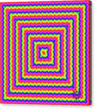 Canvas Print featuring the digital art Rainbow #3 by Barbara Tristan