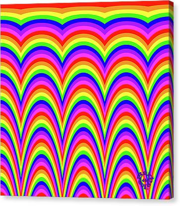 Canvas Print featuring the digital art Rainbow #4 by Barbara Tristan