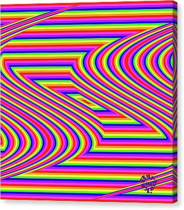 Canvas Print featuring the digital art Rainbow #5 by Barbara Tristan