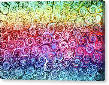 Rainbow Abstract Swirls Canvas Print