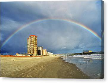 Rainbow Beach Canvas Print by Kelly Reber