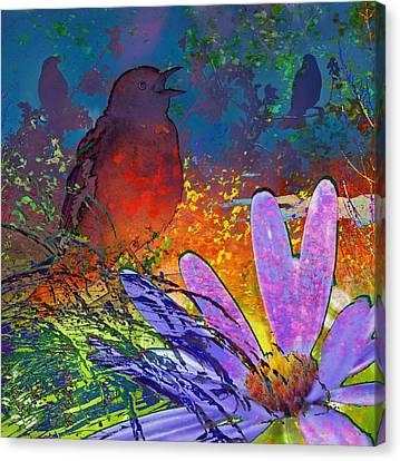 Rainbow Bird Song Canvas Print