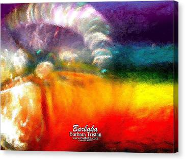 Canvas Print featuring the photograph Rainbow Bliss #052833_ii by Barbara Tristan