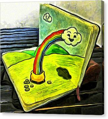 Coin Canvas Print - Rainbow Book - Da by Leonardo Digenio