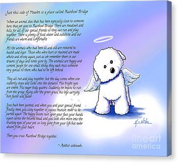 Rainbow Bridge Bichon Angel Canvas Print