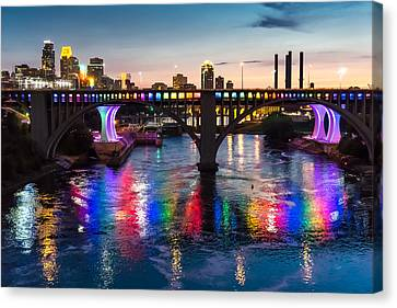 Rainbow Bridge In Minneapolis Canvas Print