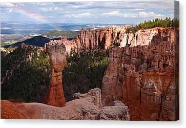 Rainbow Bryce Canyon Canvas Print by Bjorn Burton