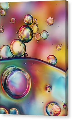Rainbow Bubble Drops Canvas Print