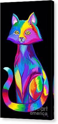 Canvas Print - Rainbow Cat by Nick Gustafson