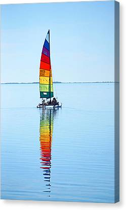 Rainbow Catamaran Canvas Print