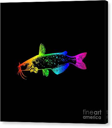 Rainbow Catfish #2 Canvas Print by Frederick Holiday