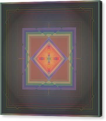 Rainbow Chip Mandala Canvas Print