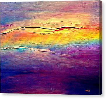 Rainbow Clouds Full Spectrum Canvas Print by VIVA Anderson