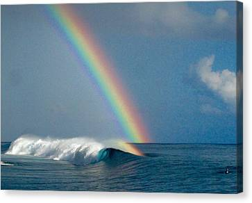Kelly Slater Canvas Print - Rainbow Connection by Danny Aab