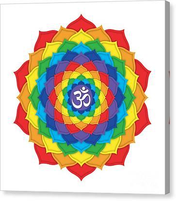 Rainbow - Crown Chakra  Canvas Print by David Weingaertner