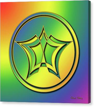 Canvas Print featuring the digital art Rainbow Design 1 by Chuck Staley