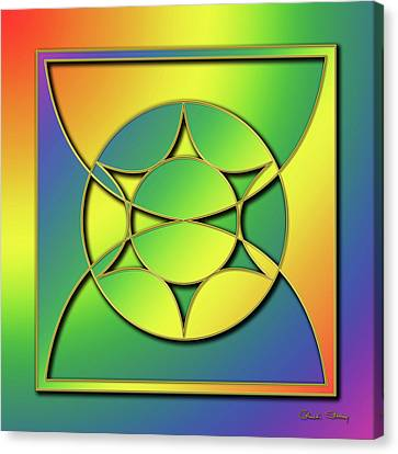 Canvas Print featuring the digital art Rainbow Design 3 by Chuck Staley