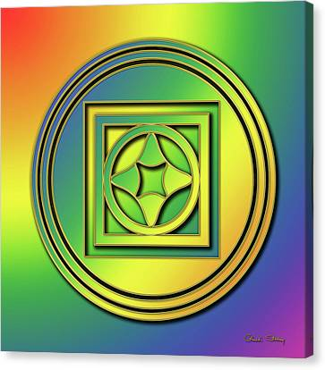 Canvas Print featuring the digital art Rainbow Design 4 by Chuck Staley