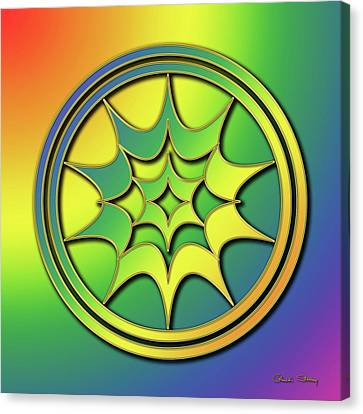 Canvas Print featuring the digital art Rainbow Design 5 by Chuck Staley