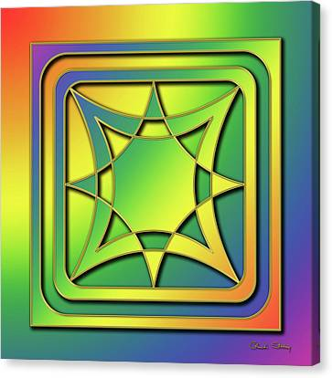 Canvas Print featuring the digital art Rainbow Design 6 by Chuck Staley