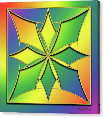 Canvas Print featuring the digital art Rainbow Design 8 by Chuck Staley