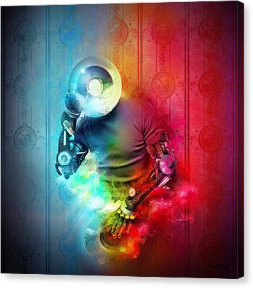 Rainbow Dj Canvas Print by Robert Palmer