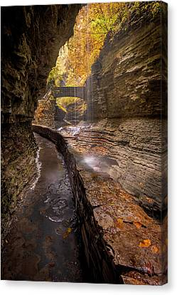 Rainbow Falls 2 Canvas Print by Michael Donahue