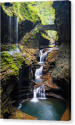 Rainbow Falls Canvas Print by Adam Pender