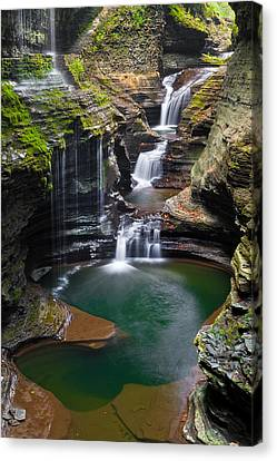 Finger Lakes Canvas Print - Rainbow Falls by Guy Schmickle