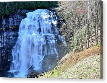 Rainbow Falls In Gorges State Park Nc 02 Canvas Print by Bruce Gourley