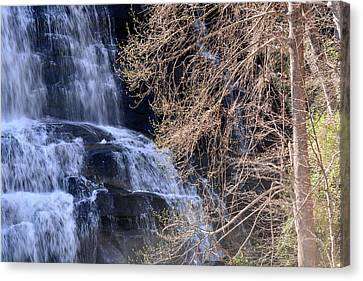 Rainbow Falls In Gorges State Park Nc 03 Canvas Print by Bruce Gourley