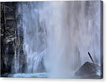 Rainbow Falls In Gorges State Park Nc Canvas Print by Bruce Gourley