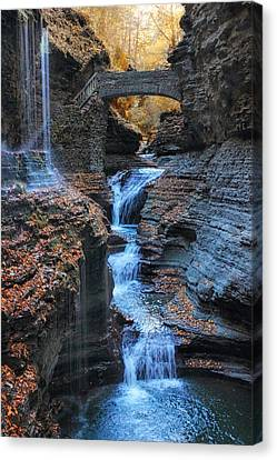 Finger Lakes Canvas Print - Rainbow Falls by Jessica Jenney