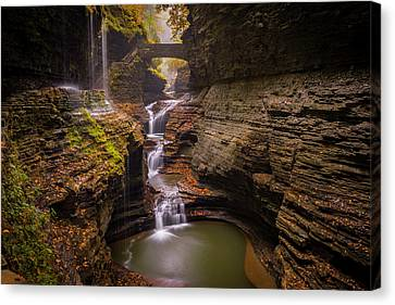 Rainbow Falls Canvas Print by Michael Donahue