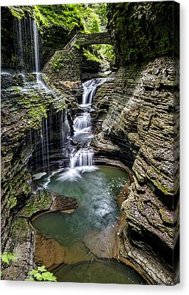 Finger Lakes Canvas Print - Rainbow Falls - Watkins Glen by Stephen Stookey