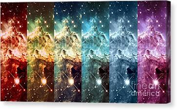 Rainbow Galaxy Canvas Print by Johari Smith