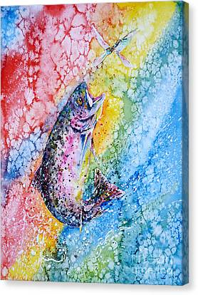 Rainbow Hunter Canvas Print by Zaira Dzhaubaeva