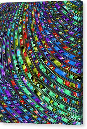 Metalic Canvas Print - Rainbow In Abstract 01 by John Edwards